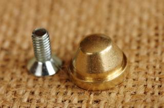 底鋲 真鍮無垢 日本製 5. 12x10mm