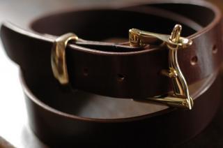真鍮の美しいベルト ファイアーマンバックル