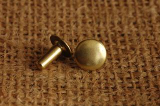 ベルギーリベット (中) 頭9mm 足9mm  シングルキャップ