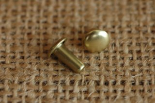 ベルギーリベット (小) 頭7mm 足9mm ダブルキャップ