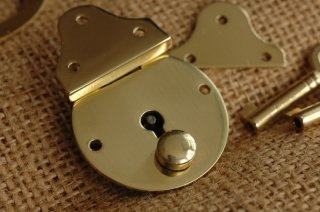 Small Brass Lock/スモールブラスロック/ Made in England
