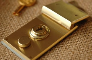Brass square Lock Made in Japan 1. 35x75mm