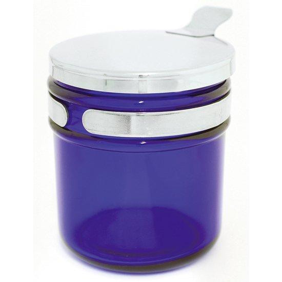 綿球容器 ブルー