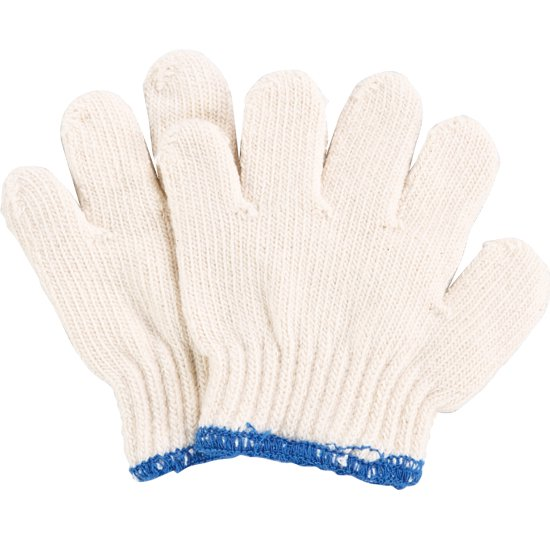 子どものびのび手袋 幼児用 ブルー 12双入