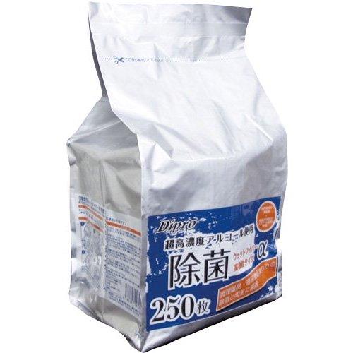 除菌ウエットワイパー 詰替用 250枚入 15×30cm