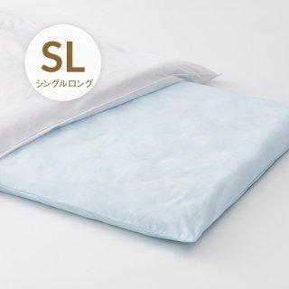 ポリ/綿敷布団カバー シングルロング 日本製 サックス