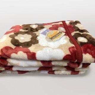 花柄フランネルニューマイヤー毛布