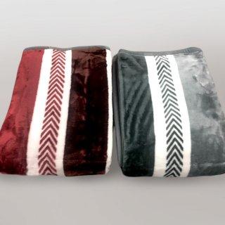 ストライプニューマイヤー毛布