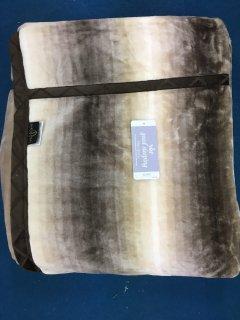 ニューマイヤー襟付きロングサイズ毛布