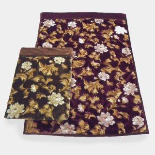 毛布 シングル 2枚合わせ ブランケット 衿付き 140×200