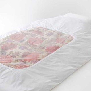 肌掛布団カバーポリ/綿ネット張り135x185  日本製