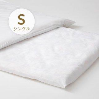 ポリ/綿フラットシーツ シングル153/250日本製