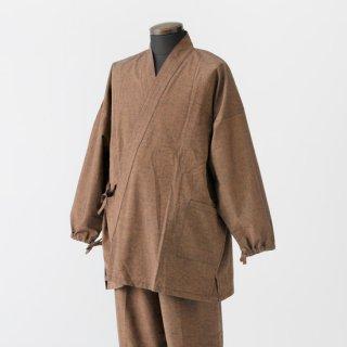 作務衣 男性用 久留米織り ムジ