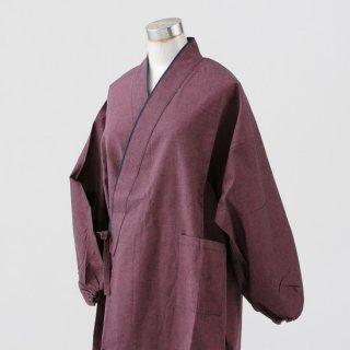 作務衣 女性用 久留米織り ムジ