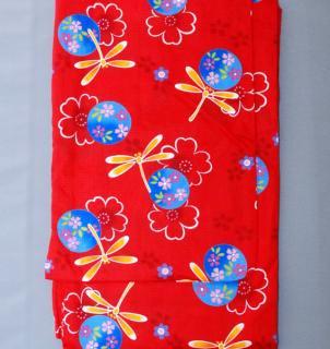 柄浴衣 赤3(とんぼ)