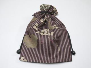 巾着 リバーシブル/紫系2