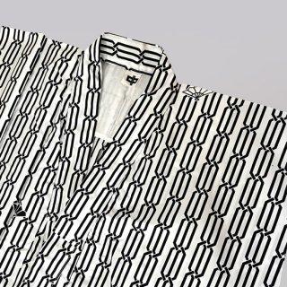 国産広巾染ゆかた ダイワ 3本くさり柄 ポリエステル/綿