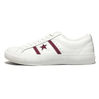 converse / STAR&BARS LEATHER / White×Maroon