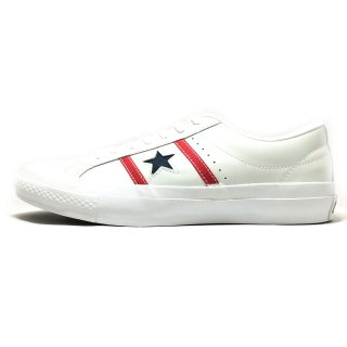 converse / STAR&BARS LEATHER / White×Red×Navy<img class='new_mark_img2' src='https://img.shop-pro.jp/img/new/icons41.gif' style='border:none;display:inline;margin:0px;padding:0px;width:auto;' />