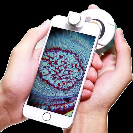 Aidmics Biotechnology スマホ顕微鏡 μHandy Basic & 高倍率レンズクリップセット【画像8】