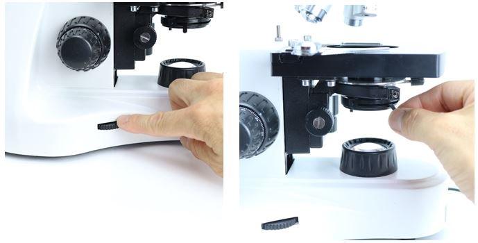 生物顕微鏡の明るさ調整