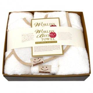 ベビー5点ギフトセット[世界一のタオル-Pure Cotton-|ワールドベスト:中]