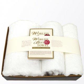 バスタオル+ミニバスタオル+フェイスタオル各1枚ギフトセット[世界一のタオル-Pure Cotton-|ワールドベスト:大]