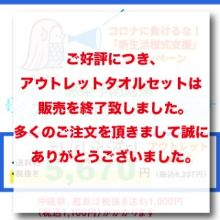 <img class='new_mark_img1' src='https://img.shop-pro.jp/img/new/icons15.gif' style='border:none;display:inline;margin:0px;padding:0px;width:auto;' />感染予防対策アウトレットタオルセット【同梱不可・日時指定不可】1週間〜10日以内にお届けいたします