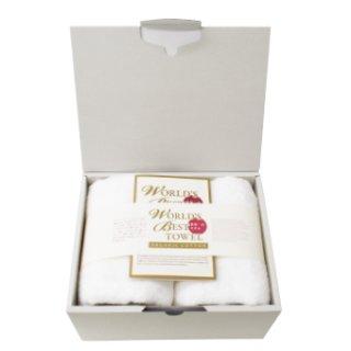 フェイスタオル2枚ギフトセット[世界一のタオル-Pure Cotton-|ワールドベスト:小]