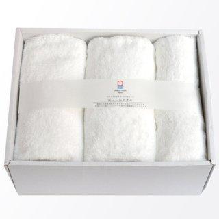 バスタオル&フェイスタオル各2枚ギフトセット(オフホワイト)[雲ごこち:LL]