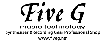 Five G music technology   東京・原宿のシンセサイザー・プロショップ