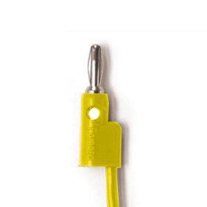 Pomona   Stacking Banana Plug Patch Cord Yellow 18inch