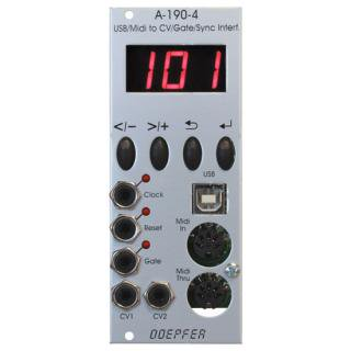 Doepfer A-190-4 MIDI/USB CV Interface<img class='new_mark_img2' src='//img.shop-pro.jp/img/new/icons41.gif' style='border:none;display:inline;margin:0px;padding:0px;width:auto;' />