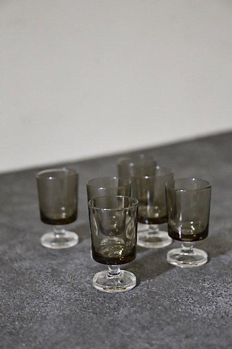 vintage brown smoke glass S/ glass 156876356