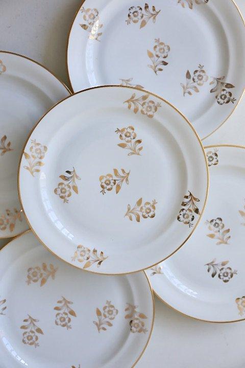 Limoges gold & white Alt deco dessert plate 157843118