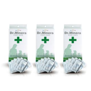 WAFONA Dr.Minera ライフリカバー・フードミックス 1g 10包入り、ペット(犬・猫)用の自然植物ミネラルサプリ 3個セット