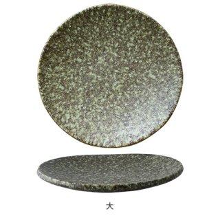 陶片 緑錆 丸 板皿