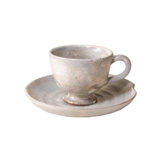 伊賀粉引 コーヒー碗皿(NGK-18)