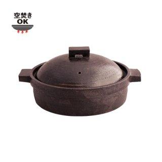 角つまみ 切立鍋 赤/3〜4人用(ON-37)