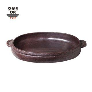 楕円陶板鍋 大 赤/2〜4人用(ON-17)