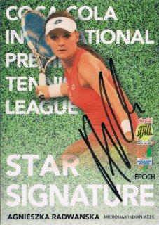 2015 EPOCH IPTL HOBBY Star Signatures Agnieszka Radwanska 【26枚限定】 / MINT新宿店041 T.タカハシ様