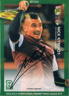 2015 EPOCH IPTL HOBBY Authentic Signatures Nick Kyrgios 【27枚限定】 / MINT新宿店043 ハム.A様