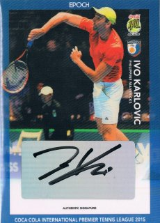 2015 EPOCH IPTL HOBBY Authentic Signatures Ivo Karlovic 【10枚限定】 / MINT新宿店057 ハム.A様