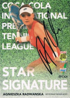 2015 EPOCH IPTL HOBBY Star Signatures Agnieszka Radwanska 【26枚限定】 / MINT新宿店058 ハム.A様