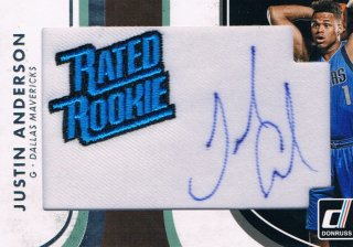 2015-16 PANINI DONRUSS Rated Rookie Signature Patches Justin Anderson ミント渋谷店 Ricky様
