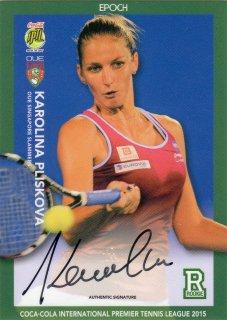 2015 EPOCH IPTL テニスカード Signature Card  Karolina Pliskova 【27枚限定】 MINT梅田店 M様