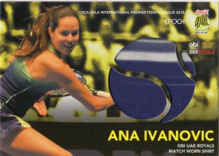 2015 EPOCH IPTL テニスカード Match-Worn Shirt Card Ana Ivanovic 【66枚限定】 MINT梅田店 M様