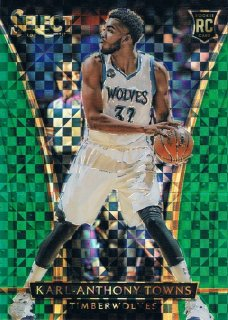 15-16 SELECT Green Prizms  Karl-Anthony Towns 【5枚限定】 ミント渋谷店 EXIT様