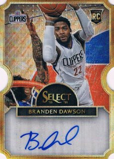 15-16 SELECT Wave Prizms Die-Cut Autographs Branden Dawson 【10枚限定】 ミント渋谷店 EXIT様