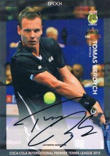 2015 EPOCH IPTL テニスカード Signatures Tomas Berdych 【30枚限定】 ミント渋谷店 マサ様